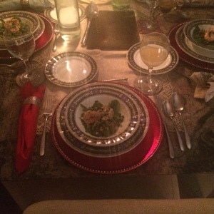 The pimped table setting